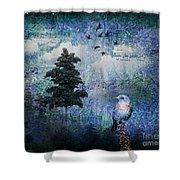 Songbird Shower Curtain by Lianne Schneider