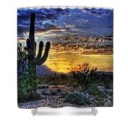 Sonoran Sunrise  Shower Curtain by Saija  Lehtonen