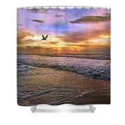 Soothing Sunrise Shower Curtain by Betsy C  Knapp