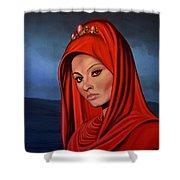 Sophia Loren Shower Curtain by Paul Meijering