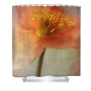 Soulful Poppy Shower Curtain by Priska Wettstein