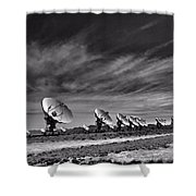 Sound Waves Shower Curtain by Dan Sproul