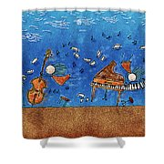 Sounds Blown In The Wind Shower Curtain by Gianfranco Weiss