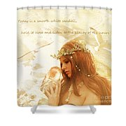 Sounds Of The Sea Shower Curtain by Linda Lees