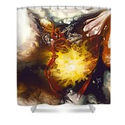Source Of Strength Shower Curtain by Karina Llergo
