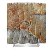 Sourdough Crust Shower Curtain by Mary Deal