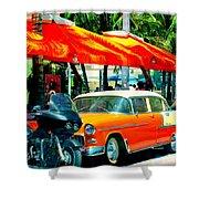 South Beach Flavour Shower Curtain by Karen Wiles