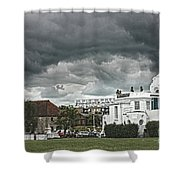 Southampton Royal Pier Hampshire Shower Curtain by Terri Waters
