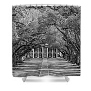Southern Time Travel bw Shower Curtain by Steve Harrington