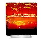 Southwest Sunset Shower Curtain by Robert Bales