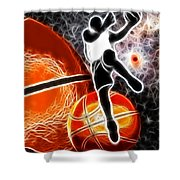 Space Slam  Shower Curtain by David G Paul