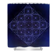 Space Time Sine Cosine And Tangent Waves Shower Curtain by Jason Padgett