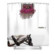 Spanish Scene Shower Curtain by Mal Bray