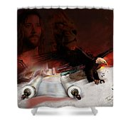 Speed In The Spirit Shower Curtain by Tamer and Cindy Elsharouni