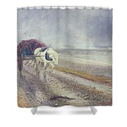 Spindrift Shower Curtain by John MacWhirter
