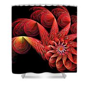 Spinning Shower Curtain by Sandy Keeton