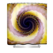 Spiral Shower Curtain by Elizabeth McTaggart