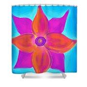 Spiral Flower Shower Curtain by Daina White
