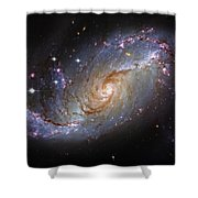 Spiral Galaxy Ngc 1672 Shower Curtain by The  Vault - Jennifer Rondinelli Reilly