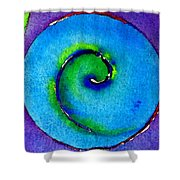 Spiral I Shower Curtain by James Elmore
