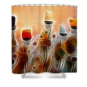 Spiritual Candles Shower Curtain by Music of the Heart