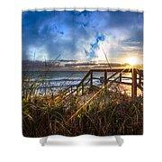 Spiritual Renewal Shower Curtain by Debra and Dave Vanderlaan