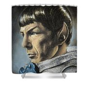 Spock - The Pain Of Loss Shower Curtain by Liz Molnar