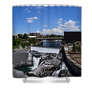 Spokane Falls And Riverfront Shower Curtain by Michelle Calkins
