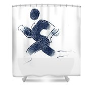 Sport A 1 Shower Curtain by Theo Danella