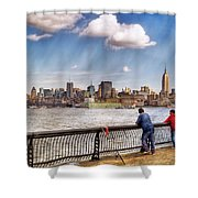Sport - Fishing Shower Curtain by Mike Savad
