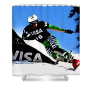 Sports  Shower Curtain by Lanjee Chee