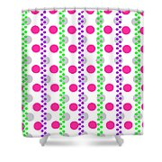 Spotty Stripe Shower Curtain by Louisa Hereford