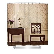 Sprig Of Lilacs Shower Curtain by Margie Hurwich