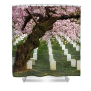 Spring Arives At Arlington National Cemetery Shower Curtain by Susan Candelario