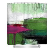 Spring Became Summer- Abstract Painting  Shower Curtain by Linda Woods