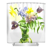 Spring Bouquet IIi Shower Curtain by Kip DeVore