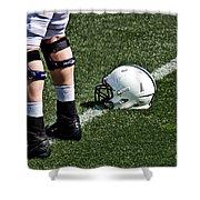 Spring Football Shower Curtain by Tom Gari Gallery-Three-Photography