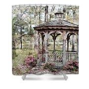 Spring Gazebo painteffect Shower Curtain by Debbie Portwood