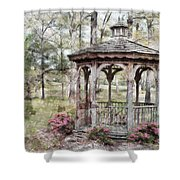 Spring Gazebo Painteffect Shower Curtain by Debbie Portwood