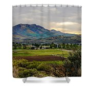 Spring Time In The Valley Shower Curtain by Robert Bales