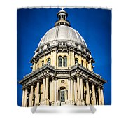 Springfield Illinois State Capitol Dome Shower Curtain by Paul Velgos