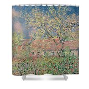 Springtime At Giverny Shower Curtain by Claude Monet
