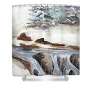 Springtime Shower Curtain by Rick Huotari