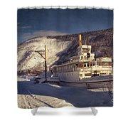 S.s. Keno Sternwheel Paddle Steamer Shower Curtain by Priska Wettstein