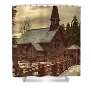 St Anne's Church In Winter Shower Curtain by Randy Hall