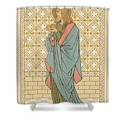 St Barnabas Shower Curtain by English School