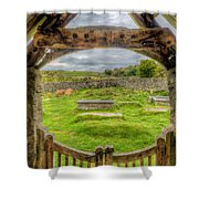 St Celynnin Graveyard Shower Curtain by Adrian Evans