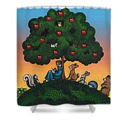 St. Francis Mother Natures Son Shower Curtain by Victoria De Almeida