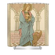 St John The Evangelist Shower Curtain by English School