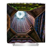 St Joseph's Spire Shower Curtain by Dave Bowman